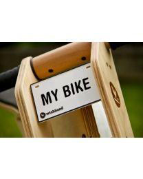 Wishbone Bike - Typenschild für Laufrad